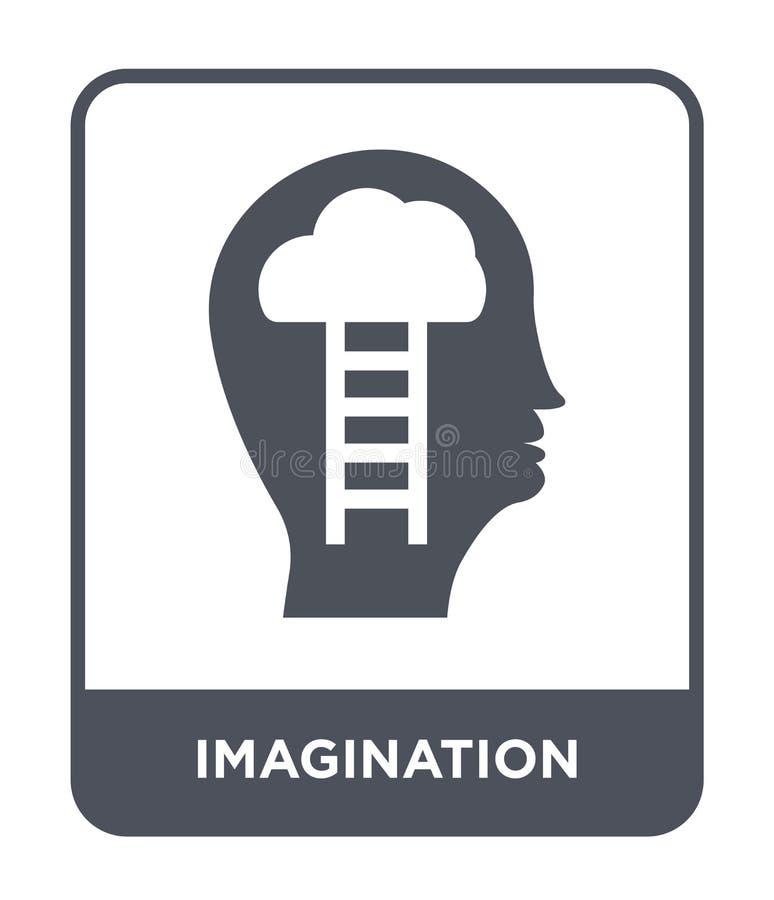 icona di immaginazione nello stile d'avanguardia di progettazione icona di immaginazione isolata su fondo bianco icona di vettore royalty illustrazione gratis
