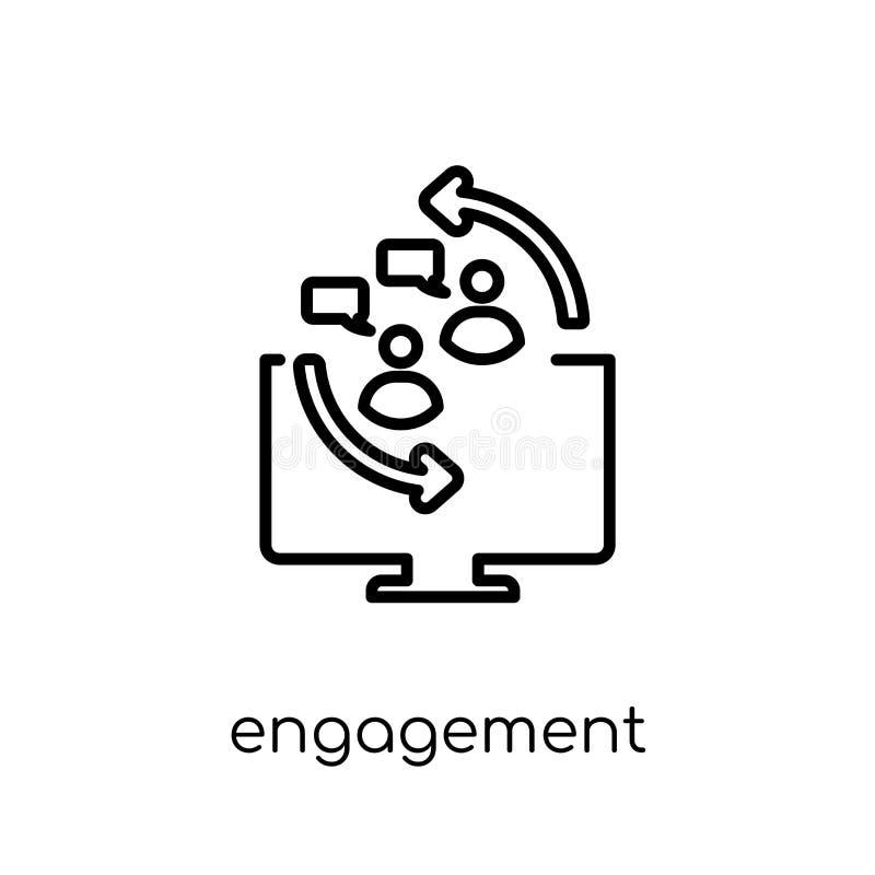 Icona di impegno Ico lineare piano moderno d'avanguardia di impegno di vettore illustrazione di stock