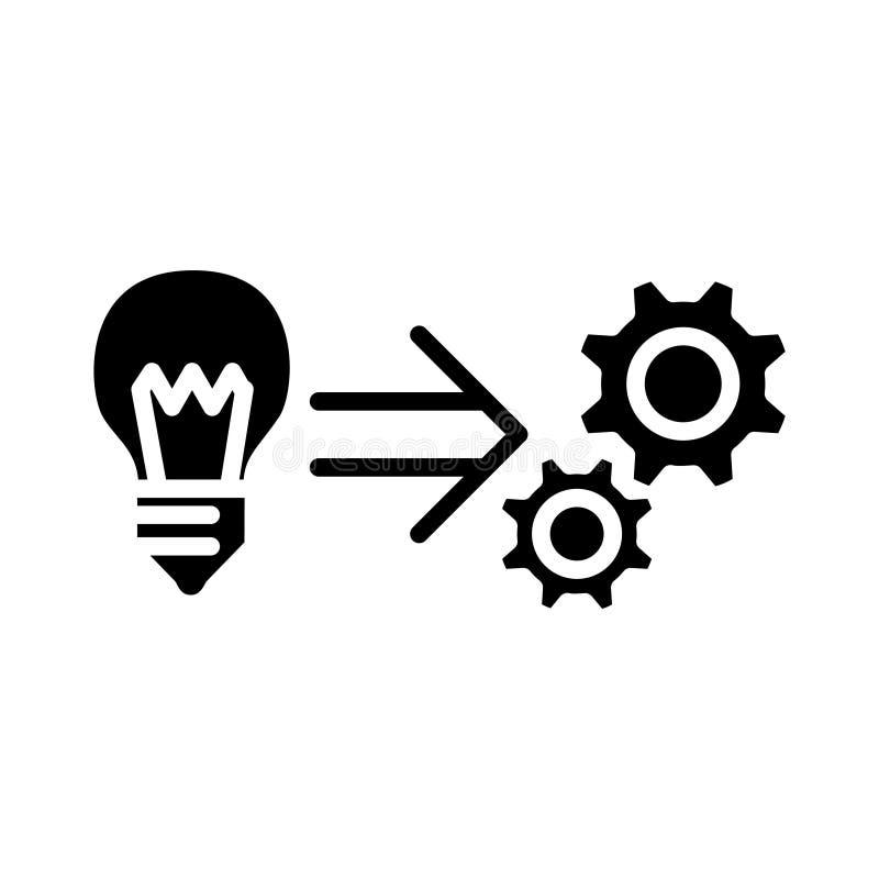 Icona di implementazione, illustrazione di vettore illustrazione vettoriale