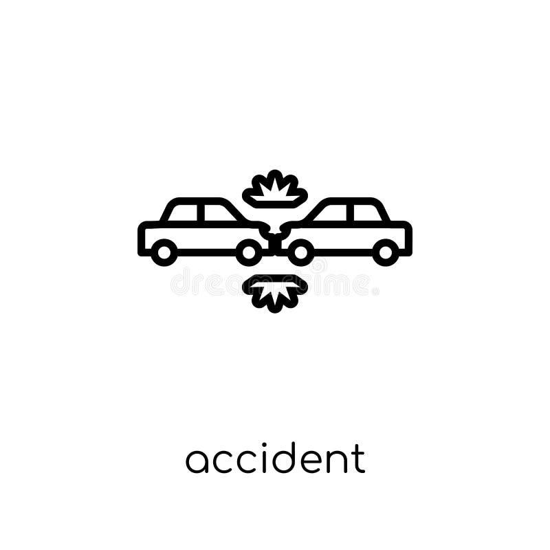 Icona di incidente Icona lineare piana moderna d'avanguardia di incidente di vettore sopra illustrazione vettoriale