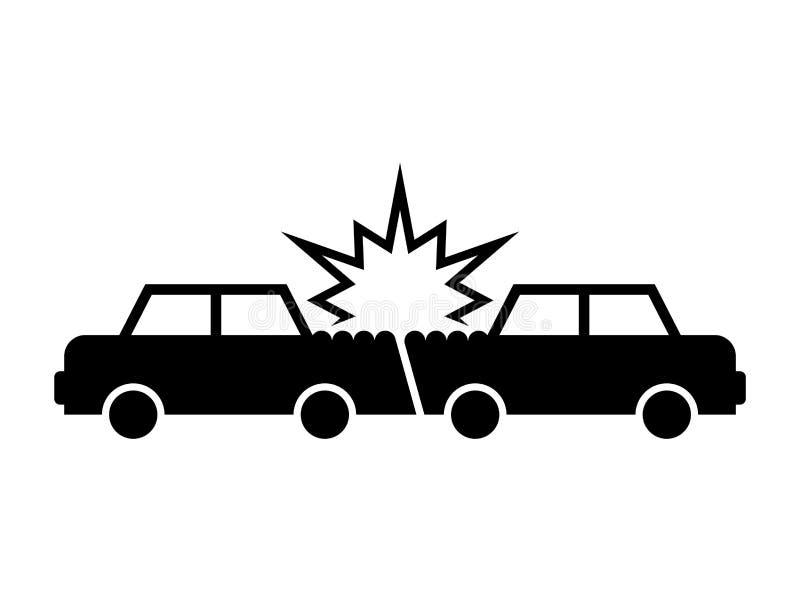 Icona di incidente stradale Automobili di incidente Segno del relitto del trasporto Vettore illustrazione vettoriale