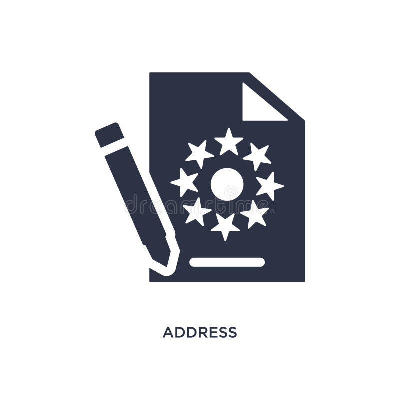icona di indirizzo su fondo bianco Illustrazione semplice dell'elemento dal concetto del gdpr illustrazione di stock