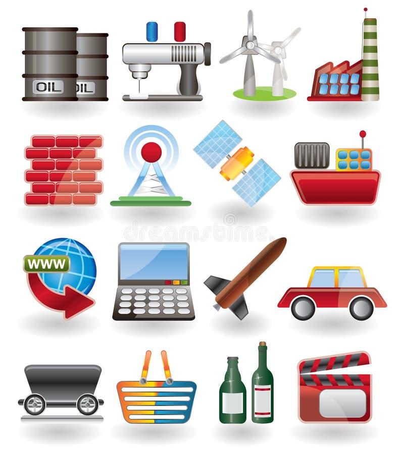 Icona di industria e di affari illustrazione vettoriale