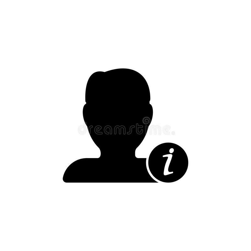 Icona di informazioni di contatto Elemento dell'icona minimalistic per i apps mobili di web e di concetto Segni ed icona per i si illustrazione vettoriale