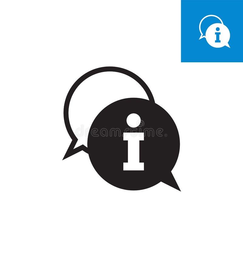 Icona di informazioni isolata su fondo bianco Segno semplice dell'icona di informazioni illustrazione di stock