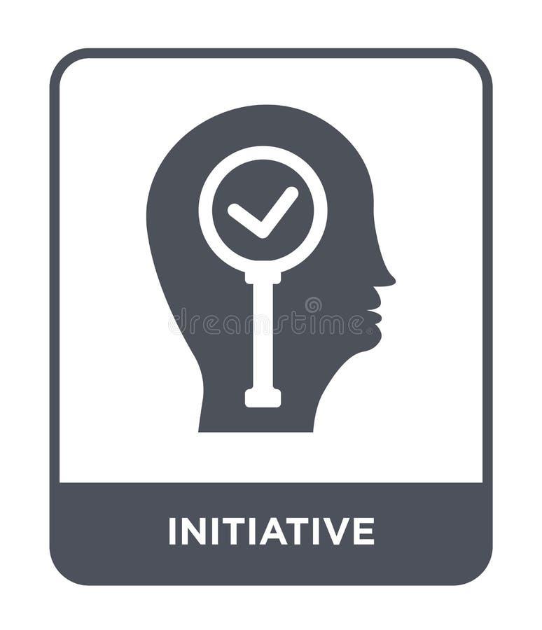 icona di iniziativa nello stile d'avanguardia di progettazione icona di iniziativa isolata su fondo bianco icona di vettore di in illustrazione di stock