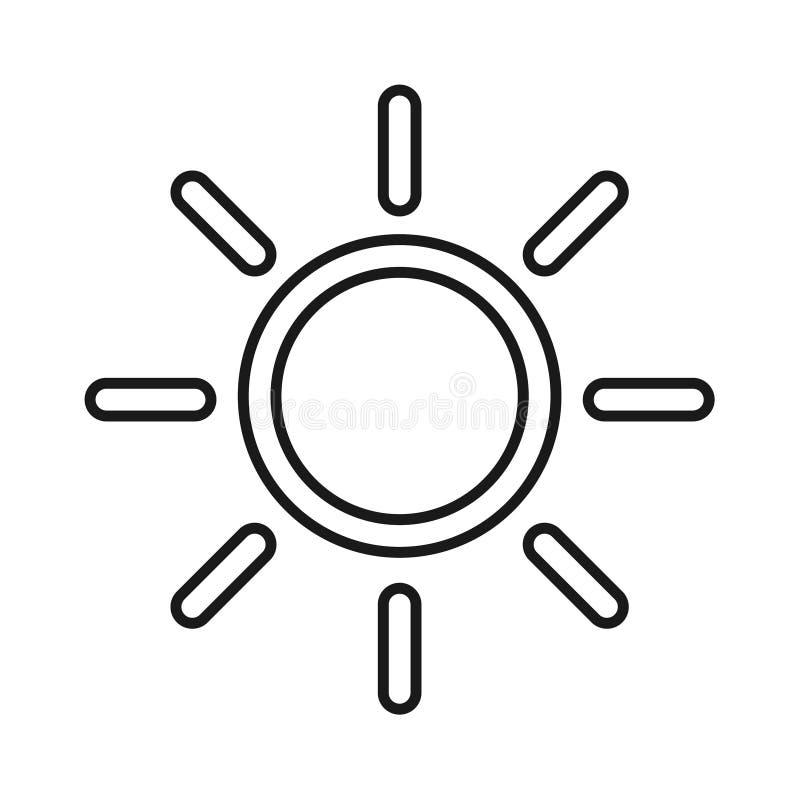 Icona di intensit? di luminosit? Simbolo isolato di vettore su fondo bianco royalty illustrazione gratis