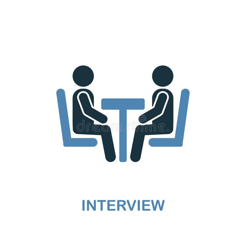 Icona di intervista Pixel perfetto Simbolo monocromatico dell'icona di intervista dalla raccolta delle risorse umane Un elemento  illustrazione vettoriale