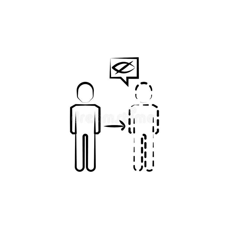 Icona di invisibilità Elemento dell'icona pazza di scienza per i apps mobili di web e di concetto L'icona disegnata a mano di inv illustrazione vettoriale