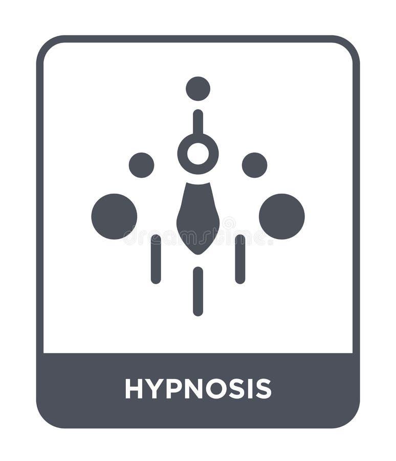 icona di ipnosi nello stile d'avanguardia di progettazione icona di ipnosi isolata su fondo bianco piano semplice e moderno dell' illustrazione di stock