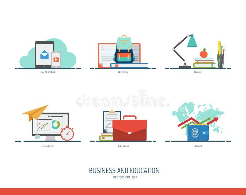 Icona di istruzione e di affari Illustrazione di vettore illustrazione vettoriale