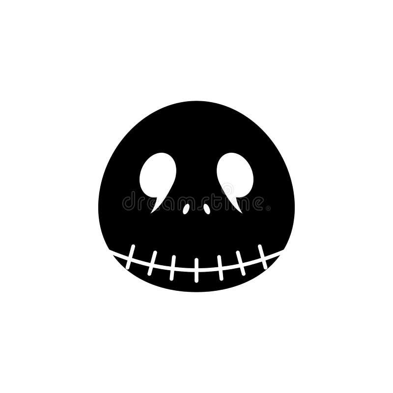 Icona di Jack Elemento dell'illustrazione degli elementi del fantasma Illustrazione al tratto sottile per progettazione del sito  illustrazione di stock