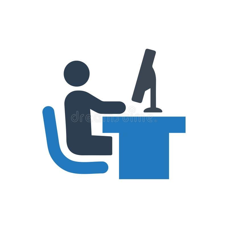 Icona di lavoro del computer royalty illustrazione gratis