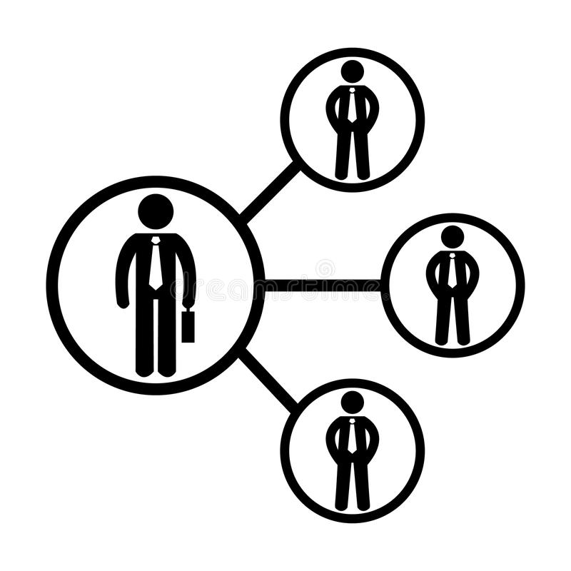 Icona di lavoro di squadra Collegamento sociale Pittogramma di vettore 96x96 illustrazione di stock