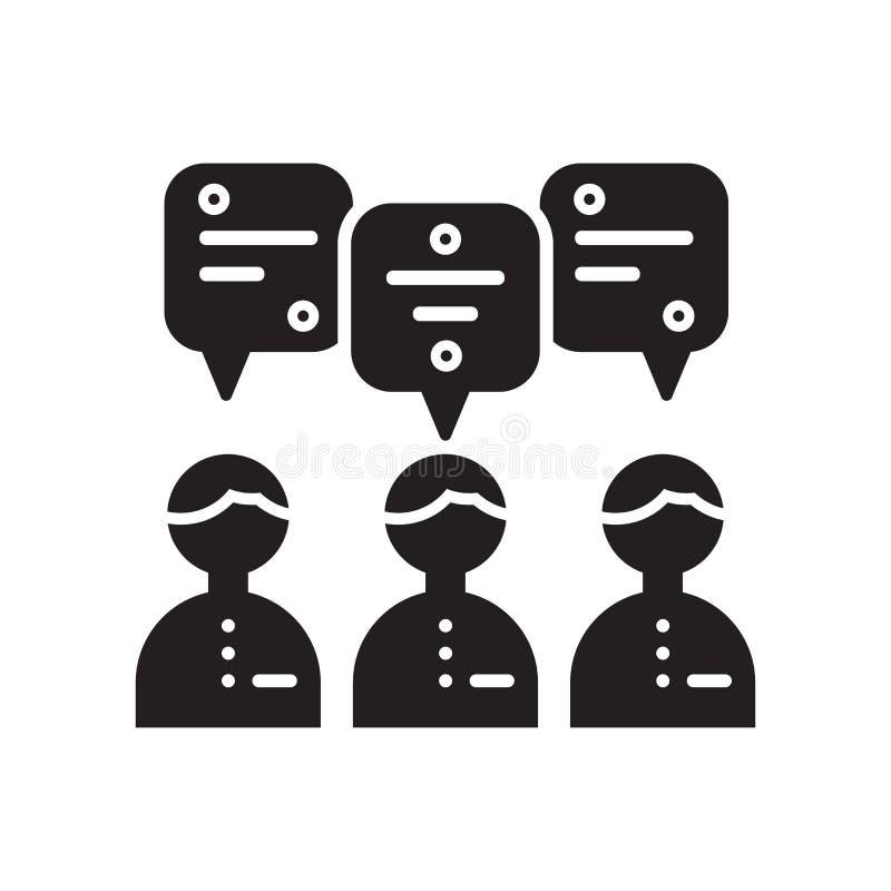 Icona di lavoro di squadra isolata su fondo bianco illustrazione di stock