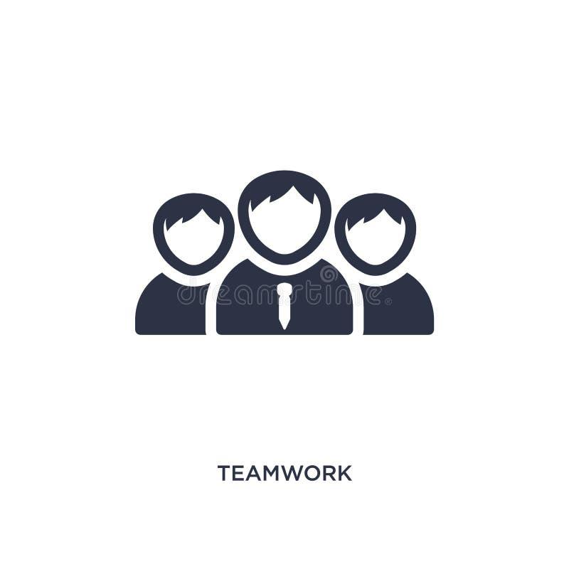 Icona di lavoro di squadra su fondo bianco Illustrazione semplice dell'elemento dal concetto di strategia illustrazione di stock