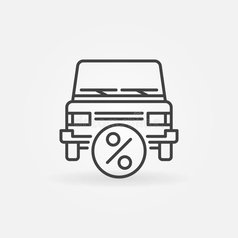 Icona di leasing dell'automobile illustrazione di stock