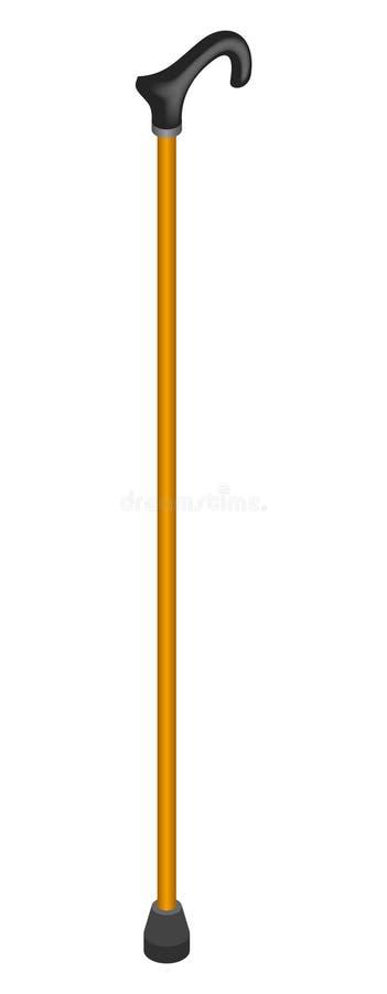 Icona di legno del bastone, stile isometrico illustrazione di stock