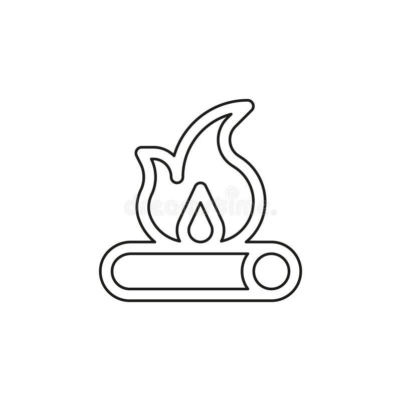 Icona di legno del fuoco - vettore del fuoco di accampamento - legna da ardere royalty illustrazione gratis