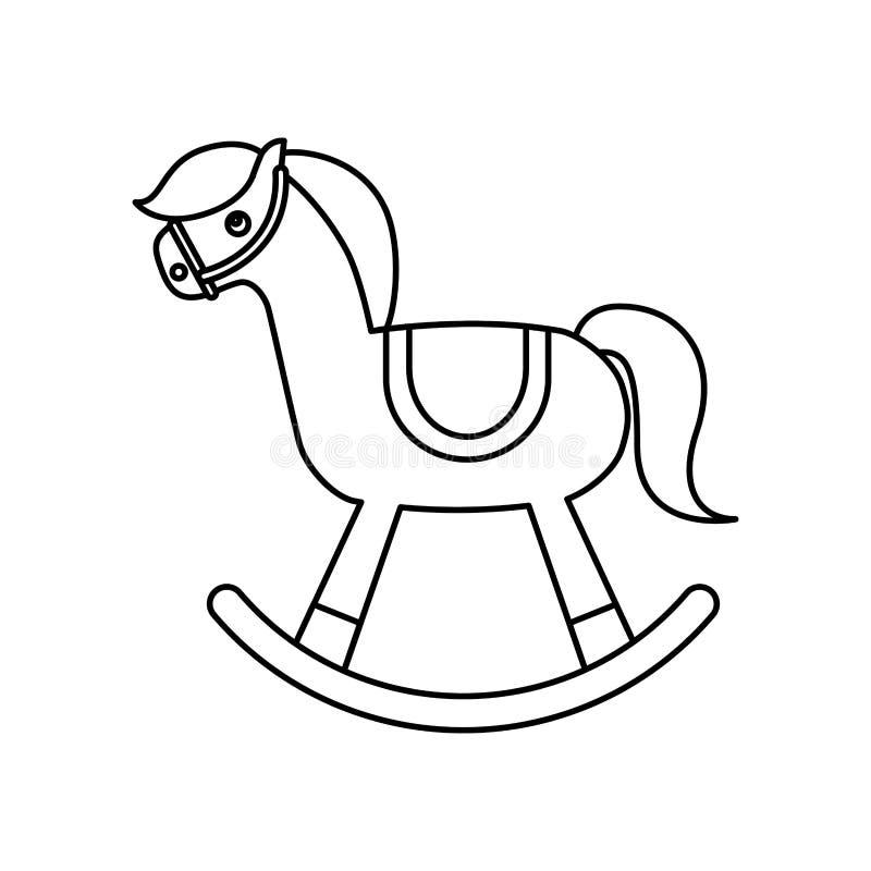 icona di legno del giocattolo del cavallo royalty illustrazione gratis