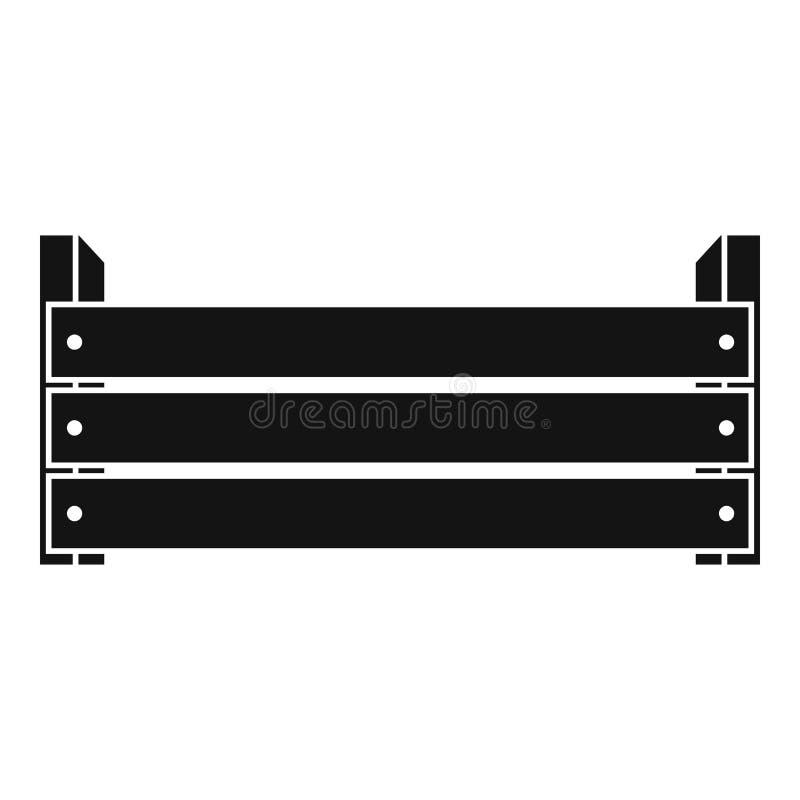 Icona di legno della scatola, stile semplice illustrazione vettoriale