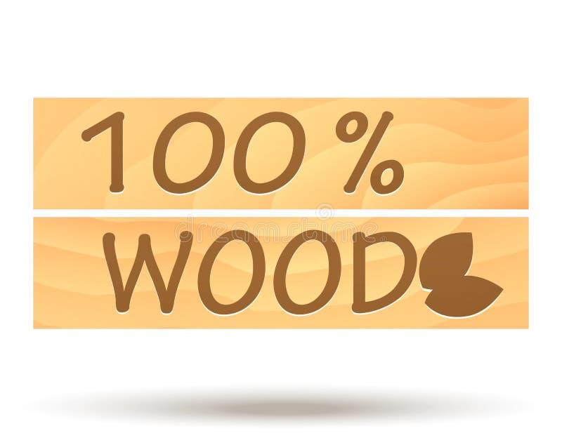 Icona di legno di navigazione di vettore royalty illustrazione gratis