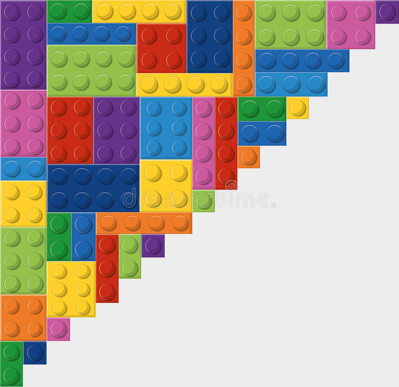 Icona di Lego Figura astratta Grafico di vettore illustrazione di stock