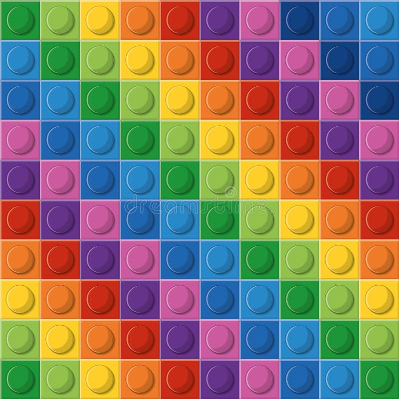 Icona di Lego Figura astratta multicolored Grafico di vettore illustrazione vettoriale