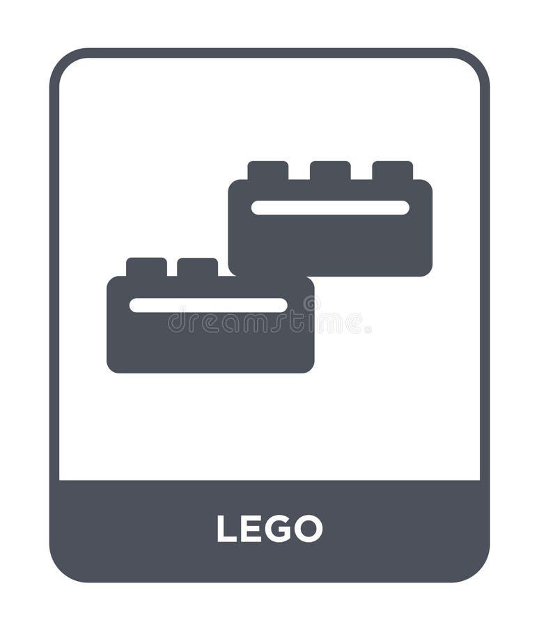 icona di lego nello stile d'avanguardia di progettazione icona di lego isolata su fondo bianco simbolo piano semplice e moderno d illustrazione di stock