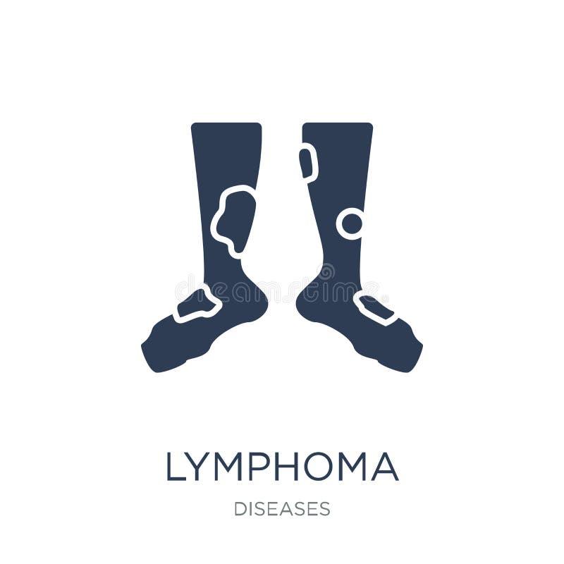 Icona di linfoma Icona piana d'avanguardia di linfoma di vettore sul backgro bianco royalty illustrazione gratis