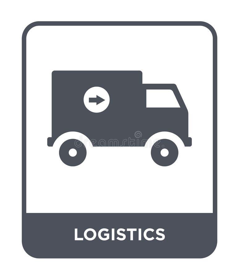 icona di logistica nello stile d'avanguardia di progettazione Icona di logistica isolata su fondo bianco piano semplice e moderno illustrazione vettoriale