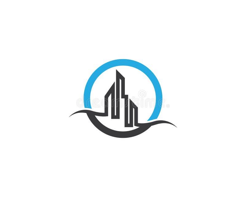 Icona di logo del bene immobile illustrazione di stock