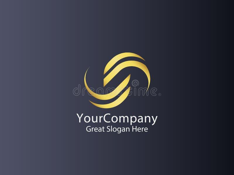 Icona di logo del cerchio della lettera s progettazione astratta del segno di alfabeto illustrazione vettoriale