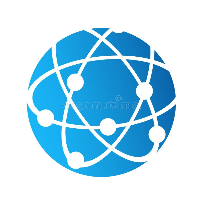 Icona di logo del globo, concetto di comunicazione del collegamento a Internet, stoc royalty illustrazione gratis