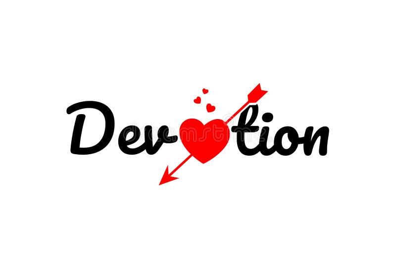 icona di logo di progettazione di tipografia del testo di parola di devozione royalty illustrazione gratis
