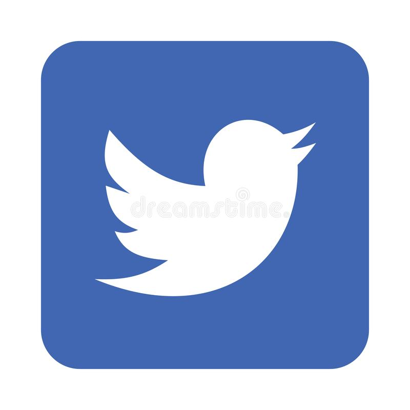 Icona di logo di Twitter illustrazione di stock