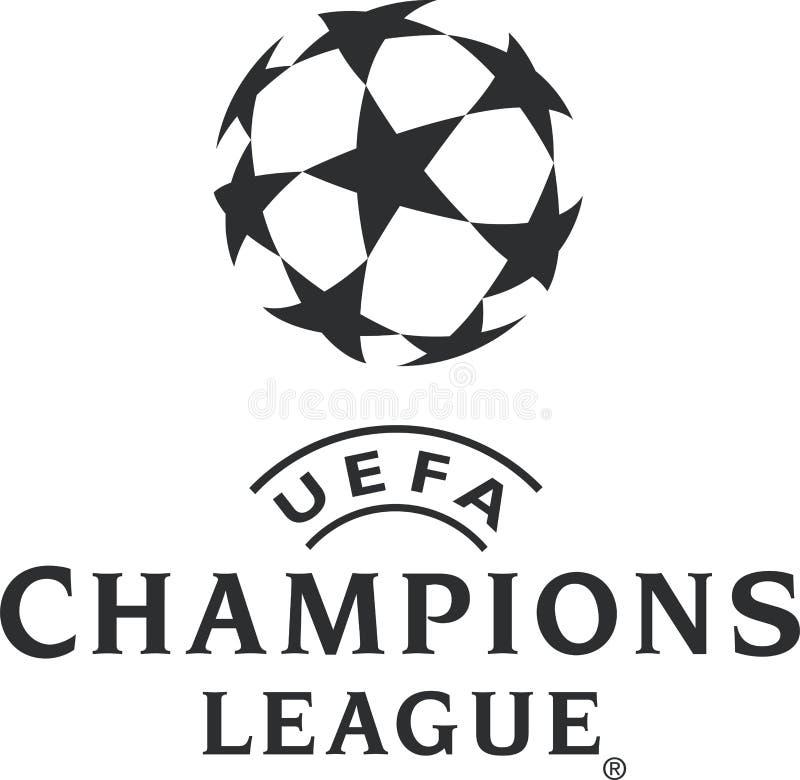 Icona di logo di UEFA Champions League illustrazione di stock