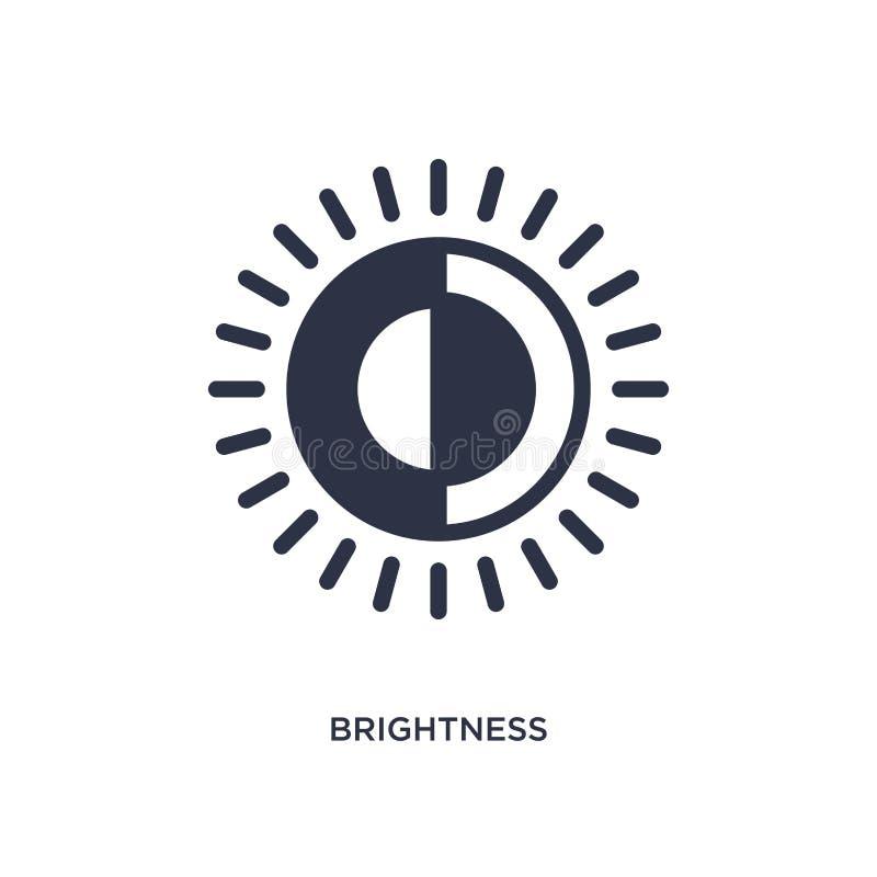 Icona di luminosità su fondo bianco Illustrazione semplice dell'elemento dal concetto dell'interfaccia utente royalty illustrazione gratis