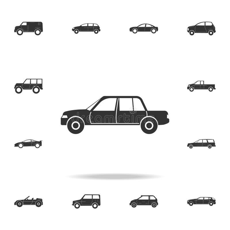 Icona di lusso dell'automobile Insieme dettagliato delle icone delle automobili Progettazione grafica premio Una delle icone dell illustrazione di stock