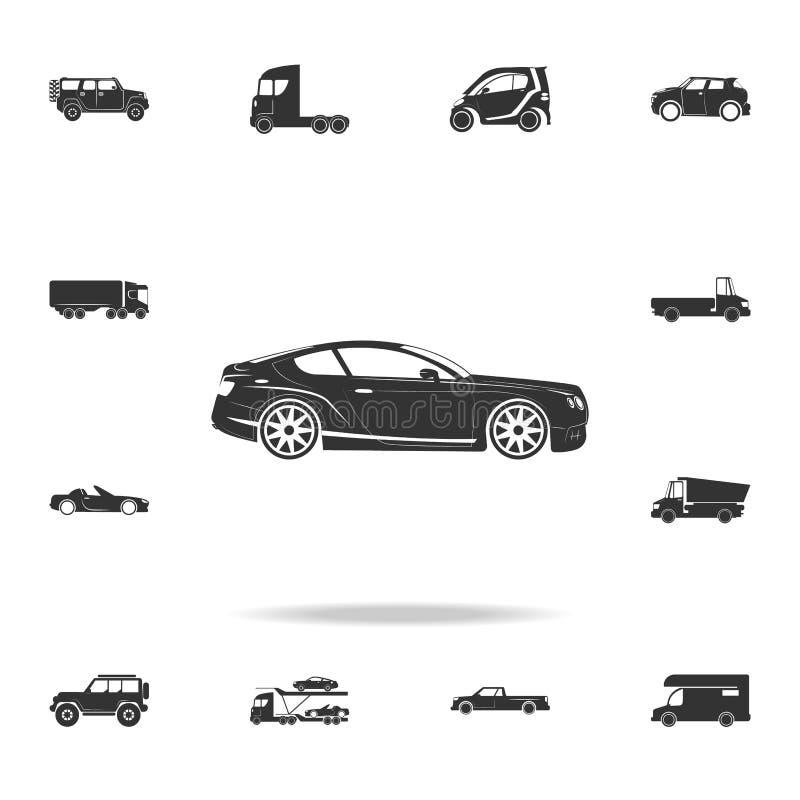 icona di lusso dell'automobile sportiva Insieme dettagliato delle icone di trasporto Progettazione grafica di qualità premio Una  illustrazione di stock