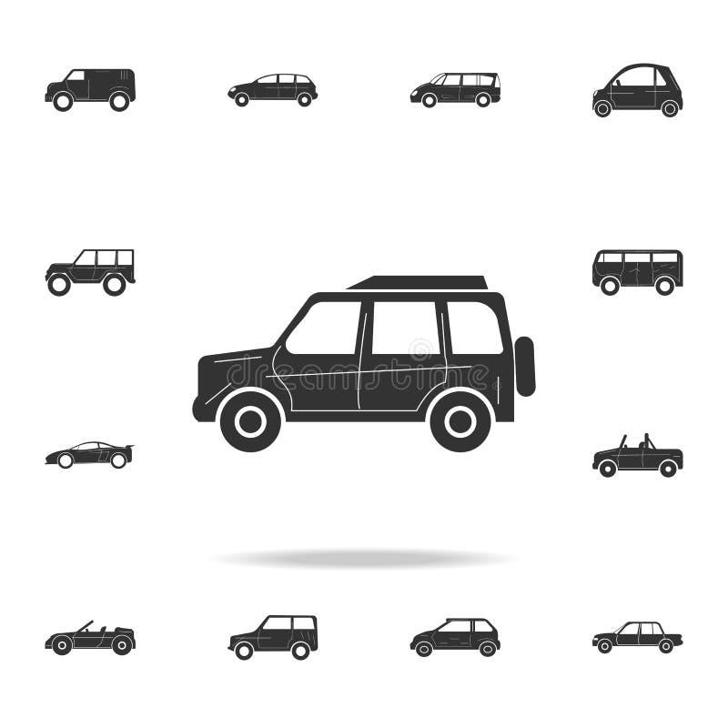 Icona di lusso a grandezza naturale dell'automobile Insieme dettagliato delle icone delle automobili Progettazione grafica premio illustrazione vettoriale
