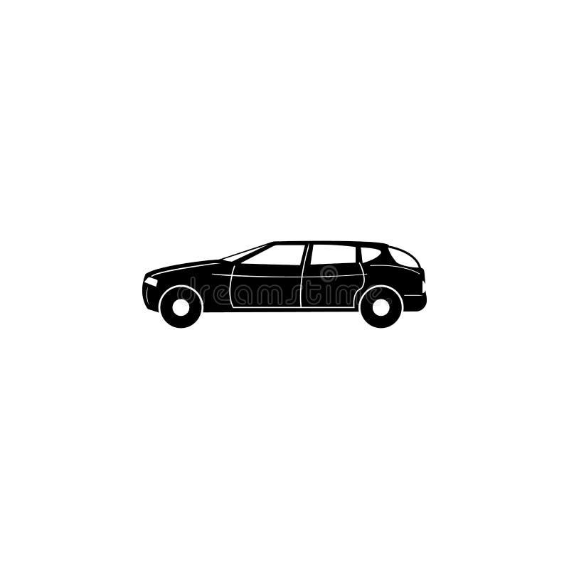Icona di lusso a grandezza naturale dell'automobile Tipo icona semplice dell'automobile Icona dell'elemento di trasporto Progetta illustrazione di stock