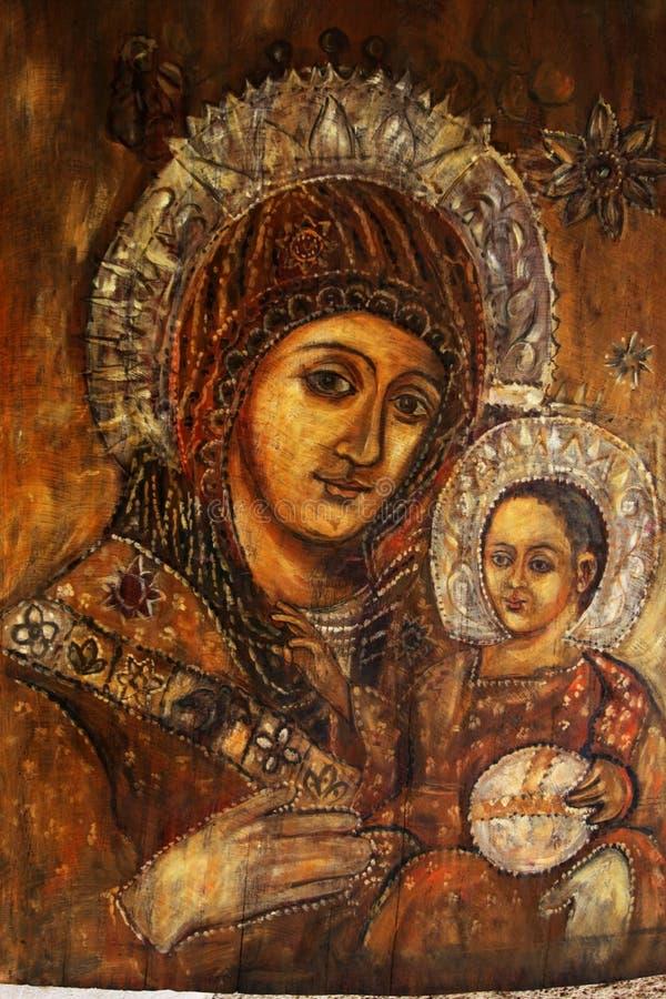 Icona di Madonna. immagine stock