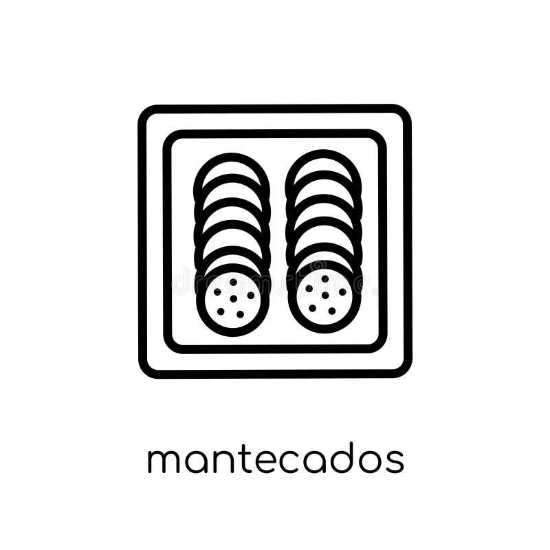 Icona di Mantecados dalla raccolta spagnola dell'alimento illustrazione di stock