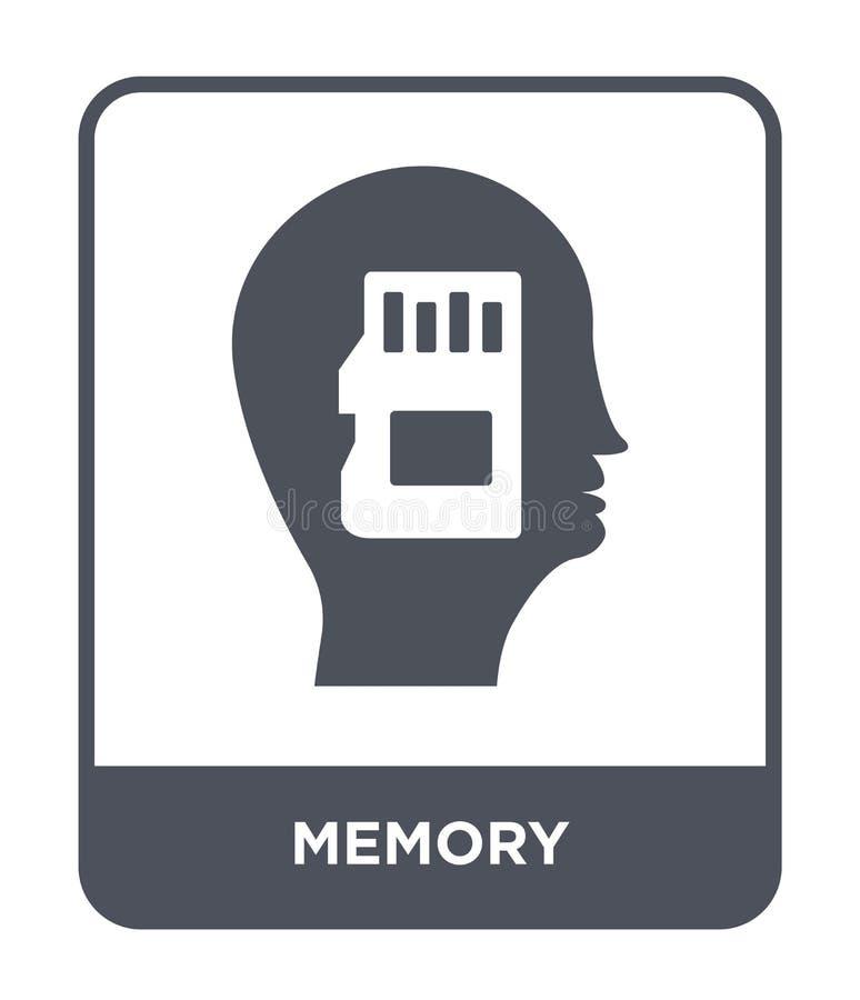 icona di memoria nello stile d'avanguardia di progettazione icona di memoria isolata su fondo bianco simbolo piano semplice e mod illustrazione di stock