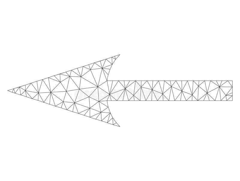 Icona di Mesh Vector Sharp Arrow Left illustrazione di stock