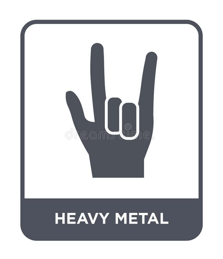 icona di metalli pesanti nello stile d'avanguardia di progettazione icona di metalli pesanti isolata su fondo bianco icona di met illustrazione vettoriale
