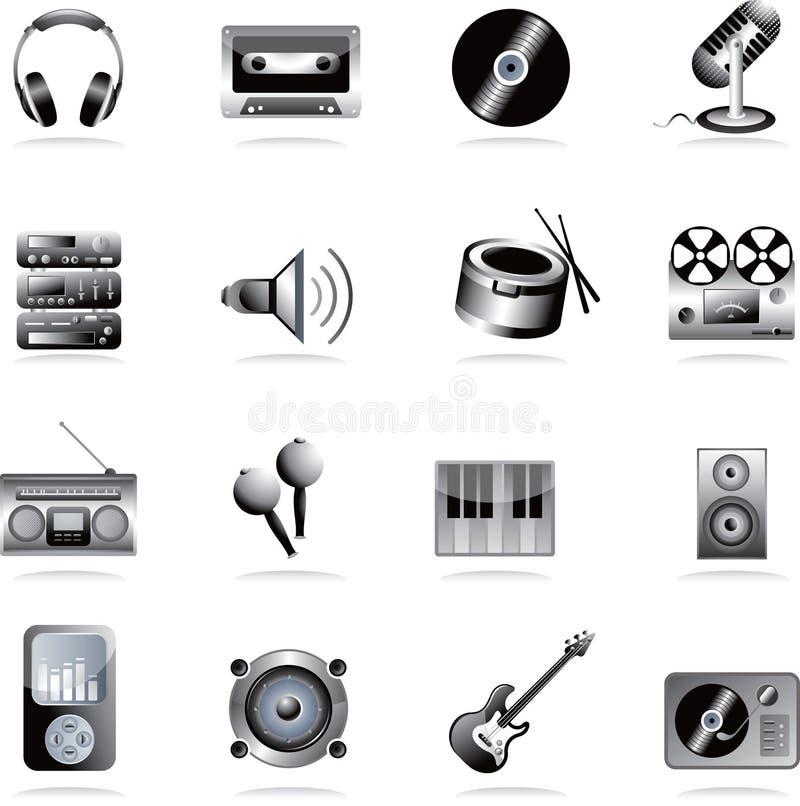 Icona di musica illustrazione di stock