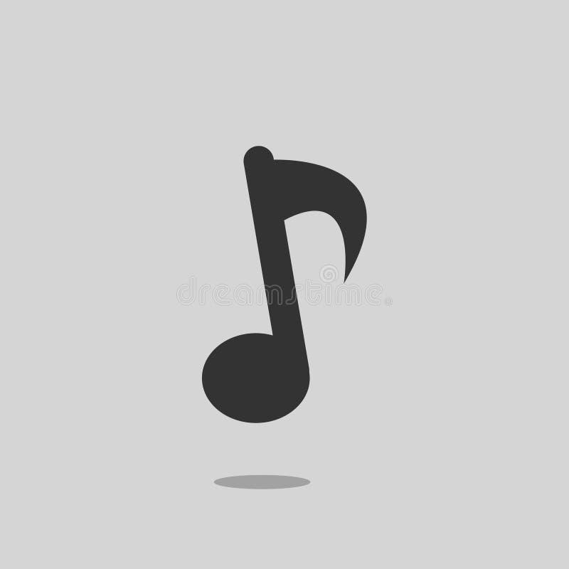 Icona di musica, illustrazione di vettore immagini stock
