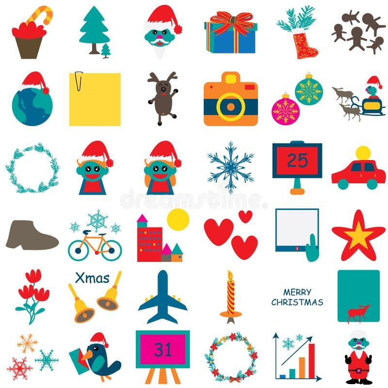 Icona 1 di Natale illustrazione di stock